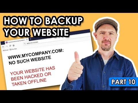 How to backup your WordPress website (part 10)