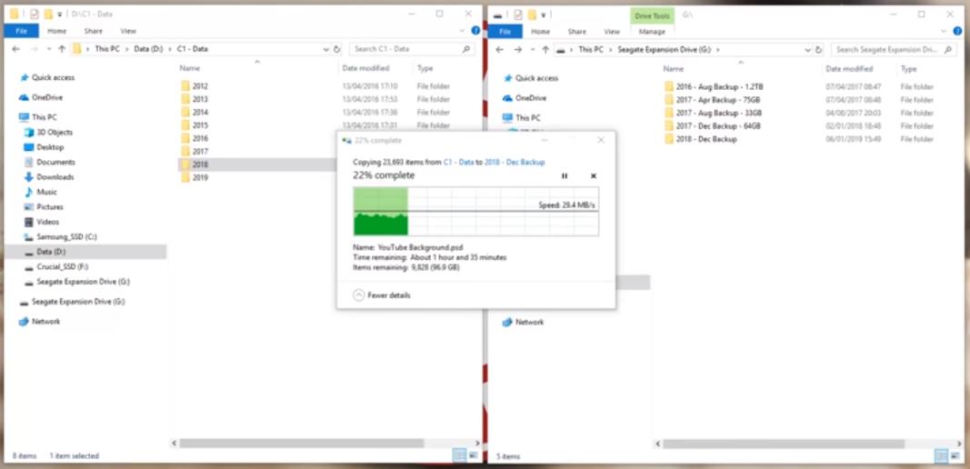Data Backup Snapshot