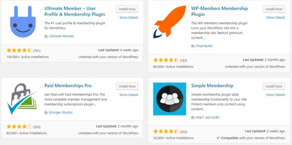 Wordpress Member Plugins