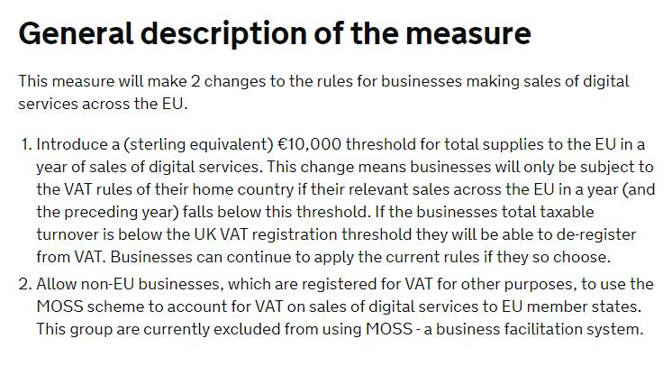 VAT Changes 2019