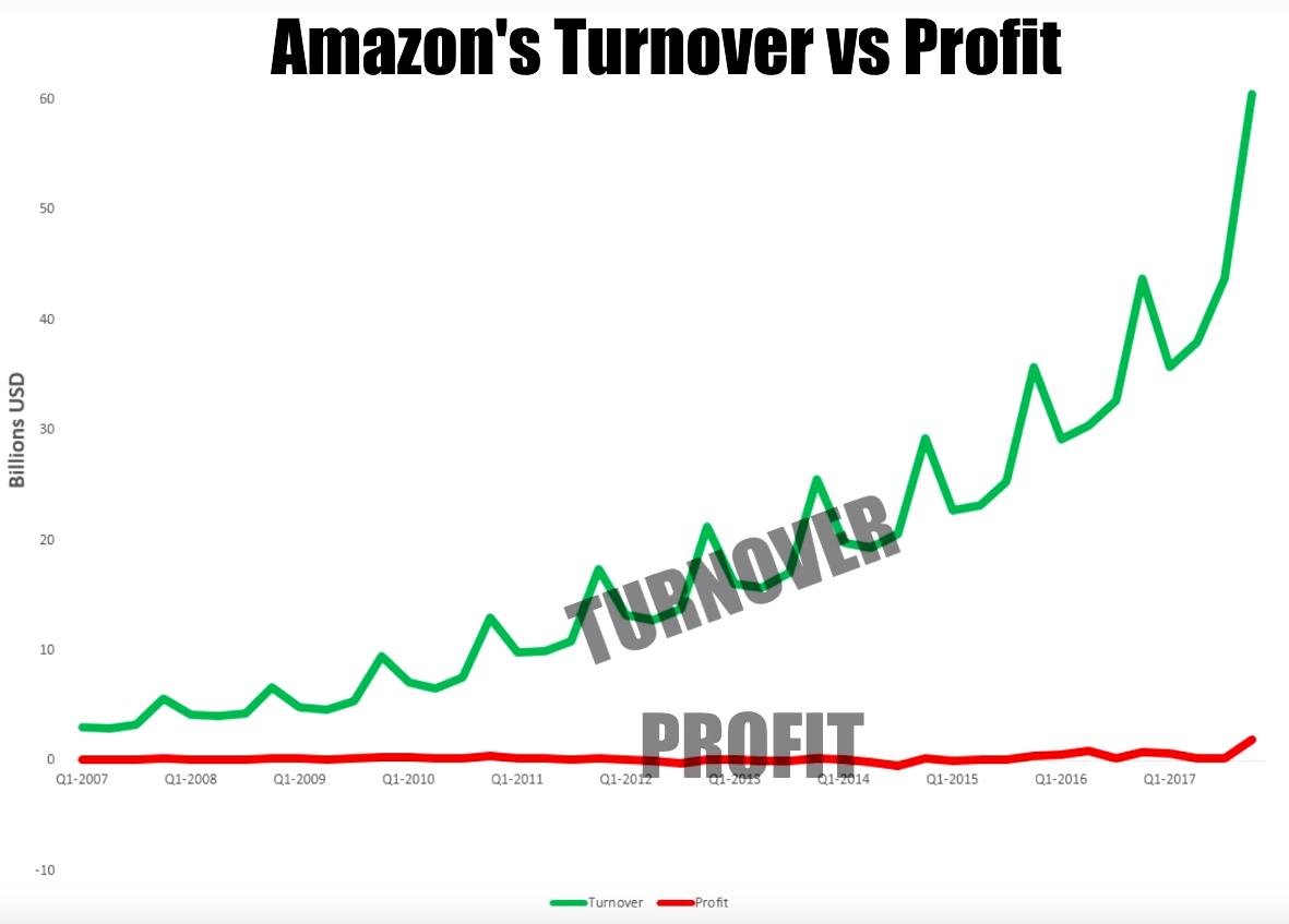 Amazon Turnover vs Profit