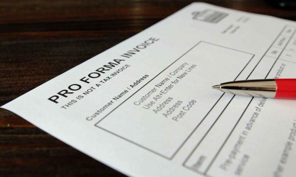 Pro Forma Invoice