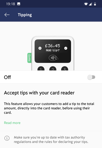 iZettle Tips