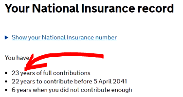 Check your national insurance record