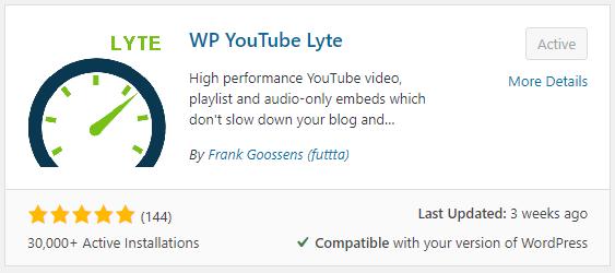 The WP YouTube Lyte