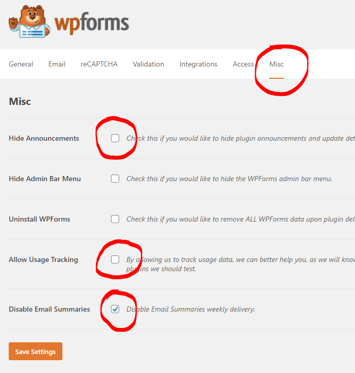 How to configure the WPForms form builder