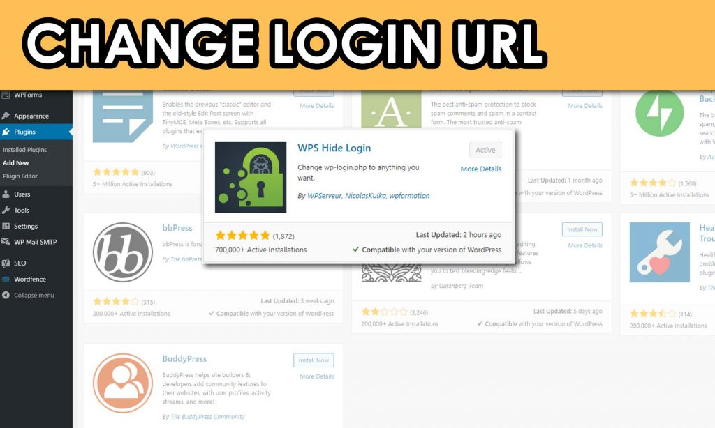 WordPress Change Login URL