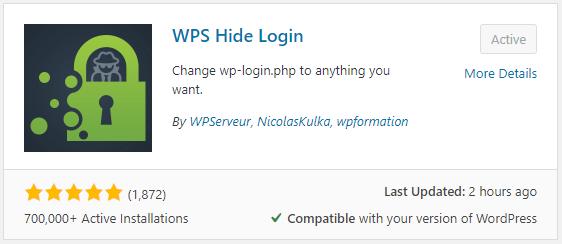 WPS Hide Login for WordPress