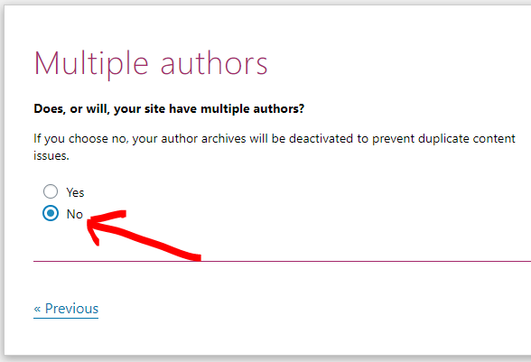 Be careful if your site has multiple authors