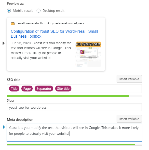 How to configure Yoast SEO