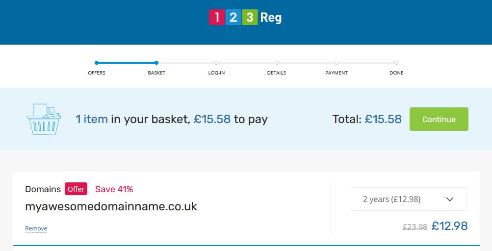 123-Reg Domain Registration