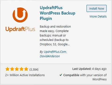 UpdraftPlus for WordPress backups