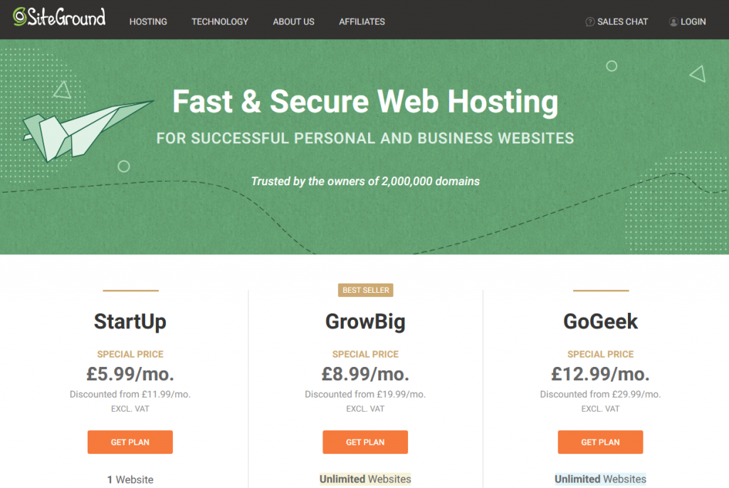 How to set up SiteGround web hosting