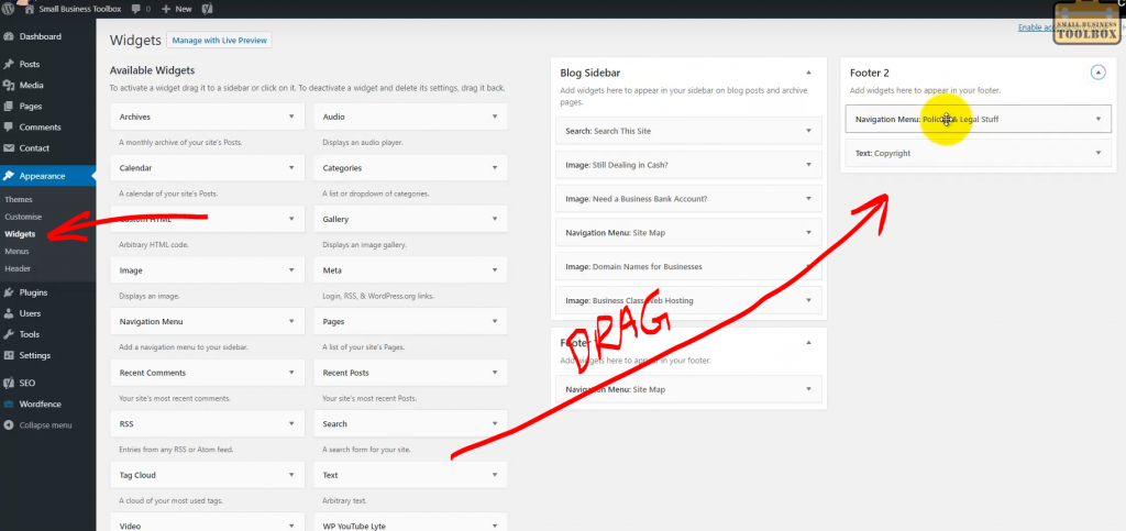 WordPress - How to add Widgets